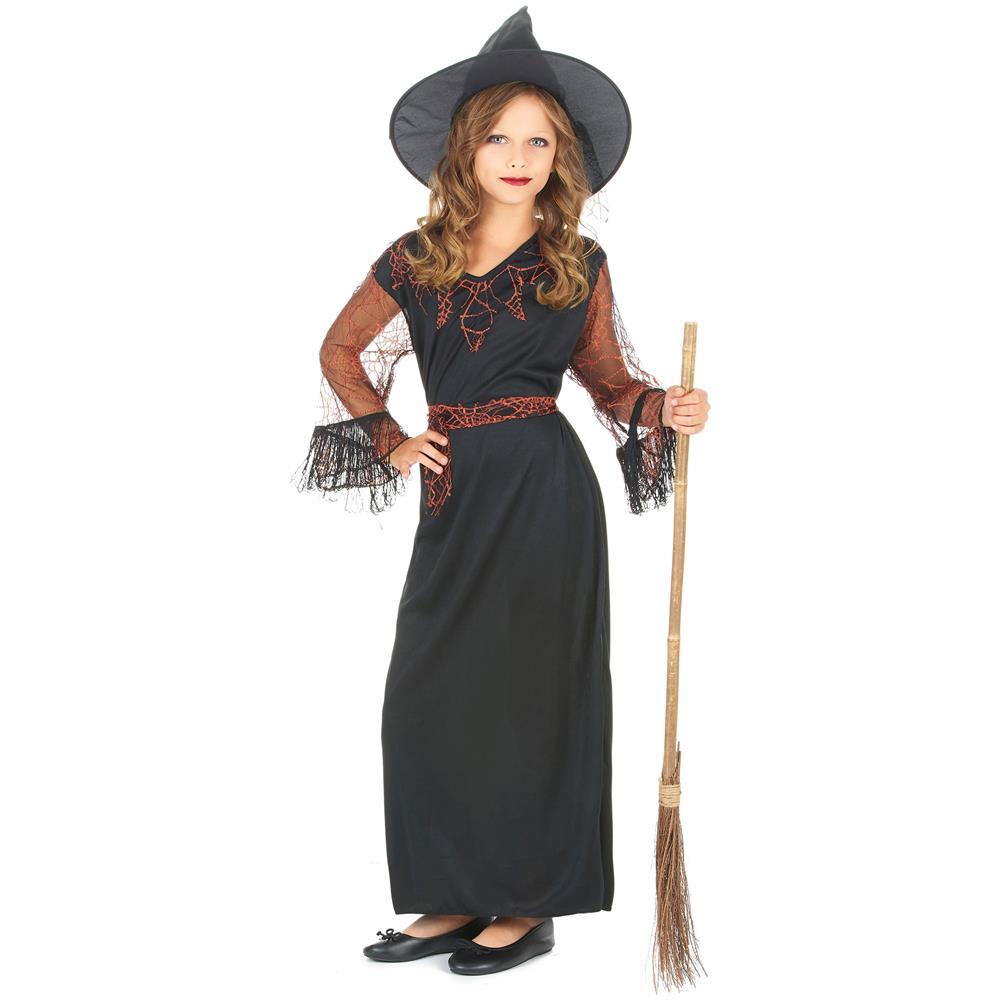 JADEO - Costume Nero Da Strega Per Bambina 4 A 6 Anni - ePRICE c6061ecafb25