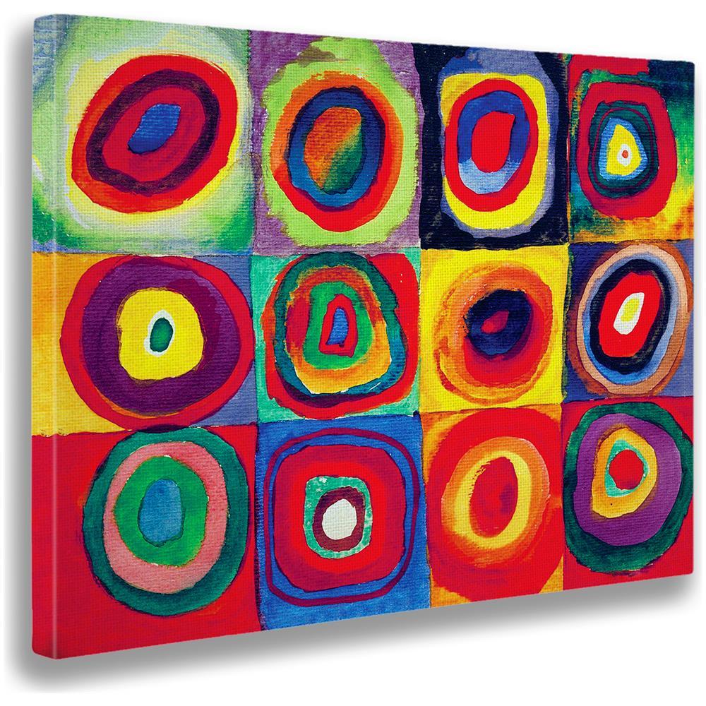 Quadri Moderni Roma Vendita giallobus quadro - stampa su tela canvas kandinsky - quadro astratto -  studio del colore - quadri moderni di tela - vari formati - 140 x 100 cm