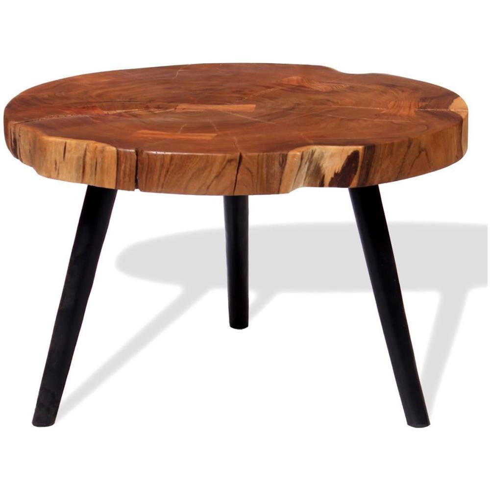 Tavoli Con Tronchi Di Legno.Vidaxl Tavolo Da Caffe A Tronco Legno Massello Di Acacia 55 60