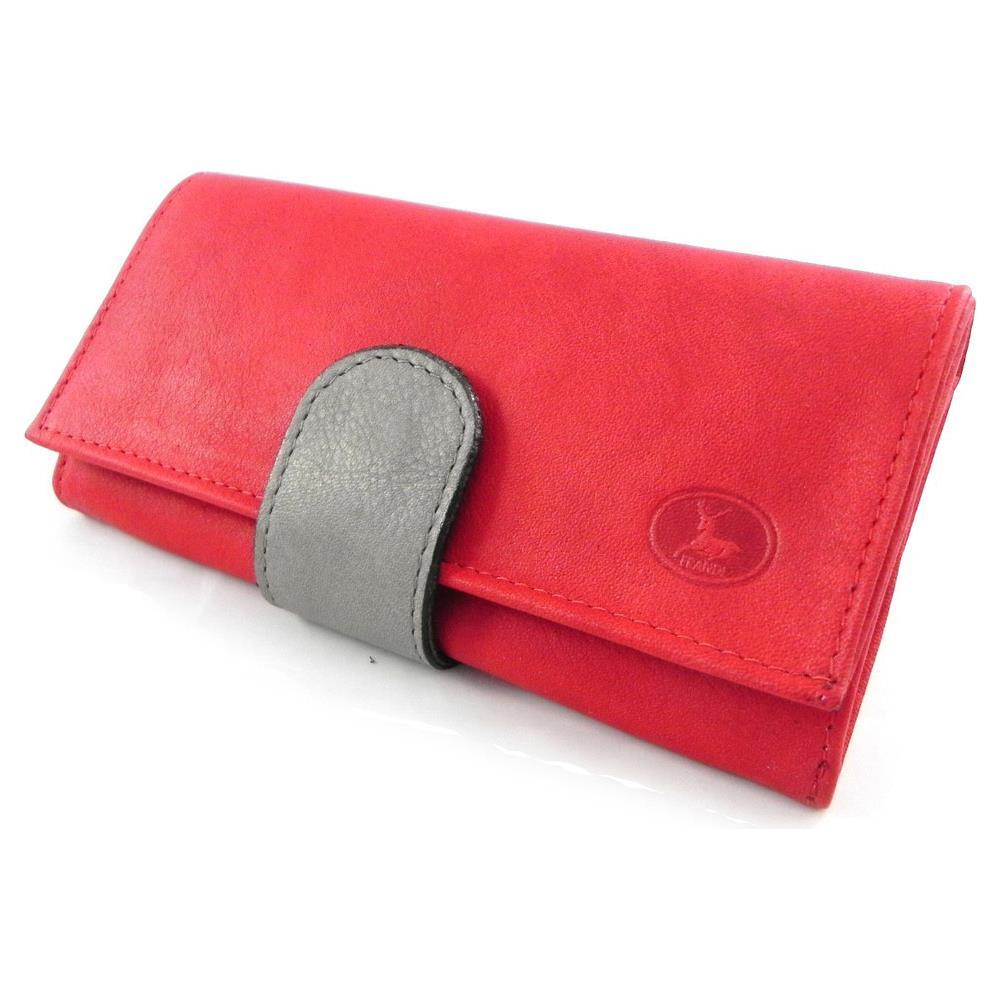 6c3d46d6ef Frandi - portafoglio in pelle di grandi dimensioni '' rosso grigio  selvatico - [ h6651] - ePRICE