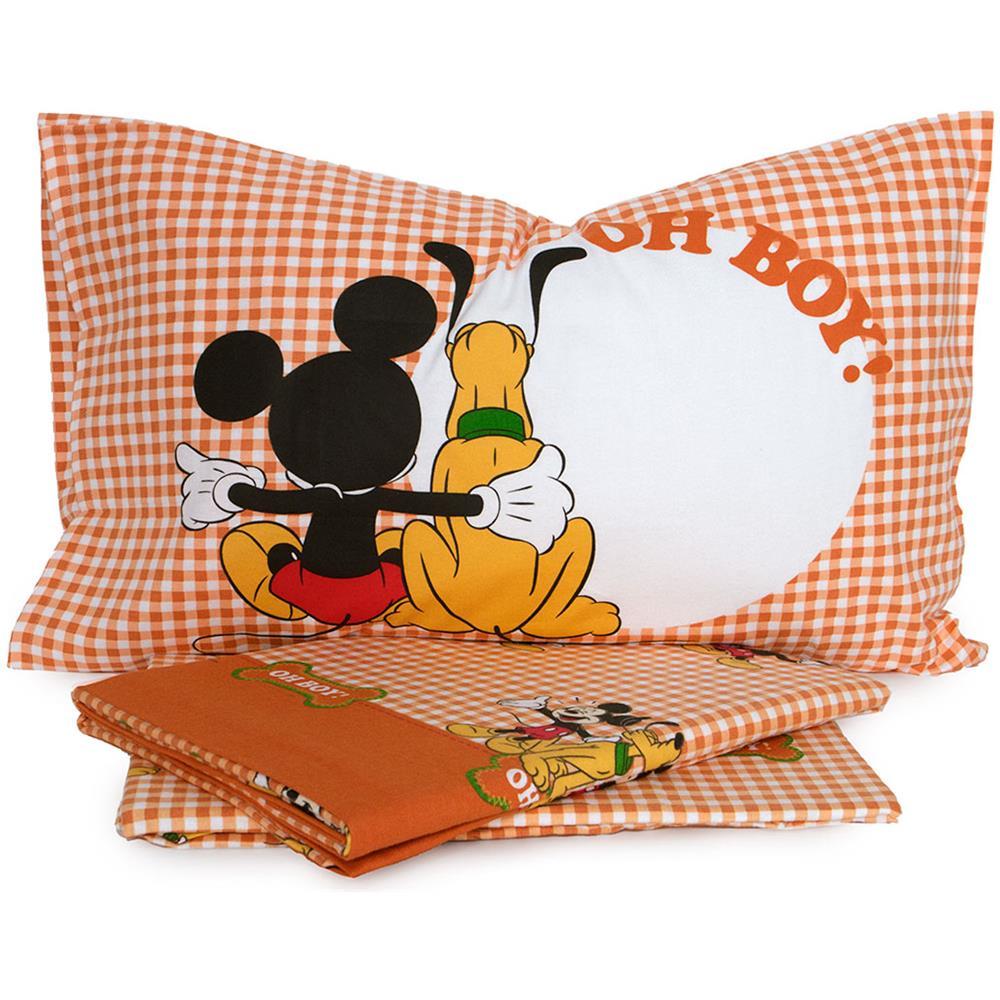 Walt Disney Completo Lenzuola Topolino E Pluto Disney Caleffi In Flanella Singolo Q217 Eprice