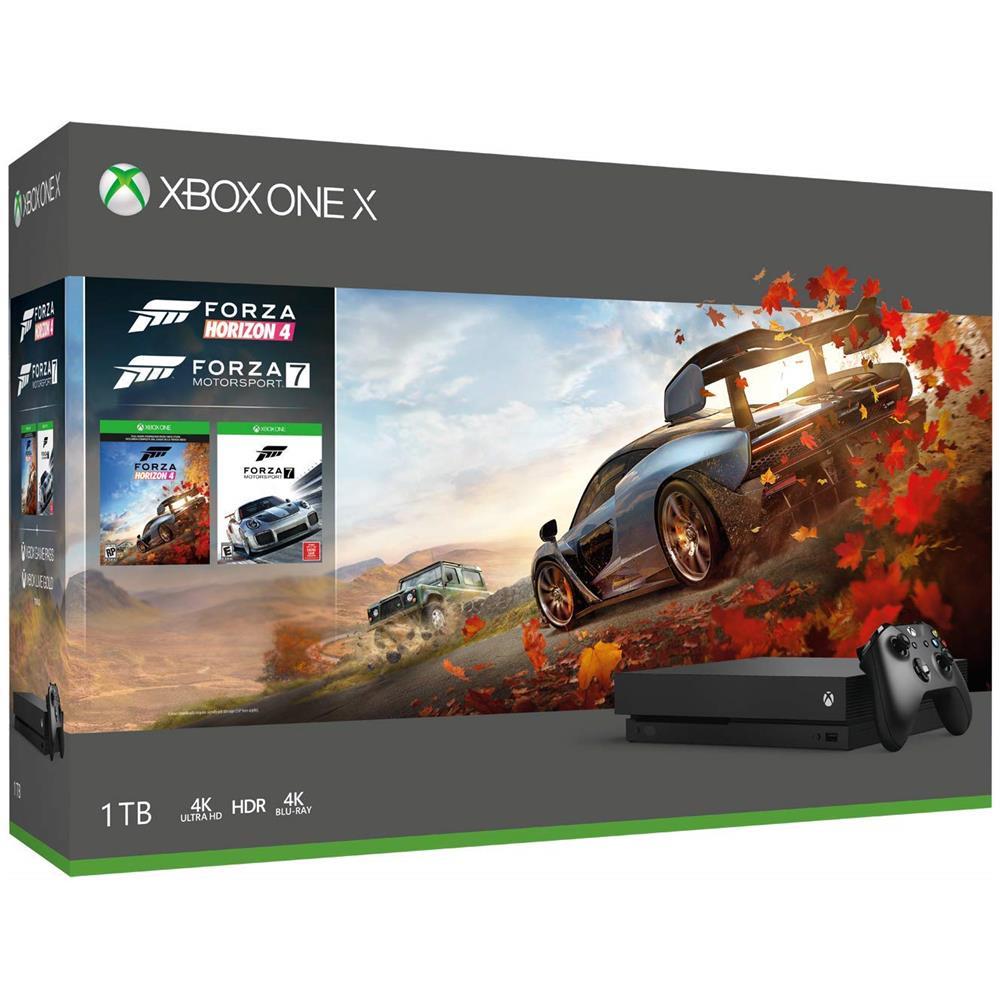 Console Xbox One X 1TB + Forza Horizon 4 + Forza Motorsport 7 + 14gg Xbox Live Gold + 1 Mese Gamepass