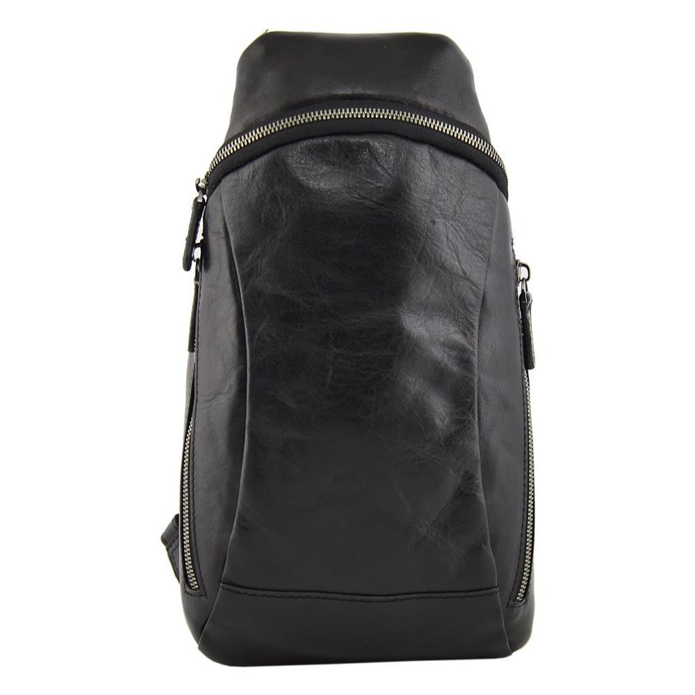 Dream Leather Bags Zaino Monospalla In Vera Pelle Per Uomo Colore Nero Pelletteria Toscana Made In Italy Zaino