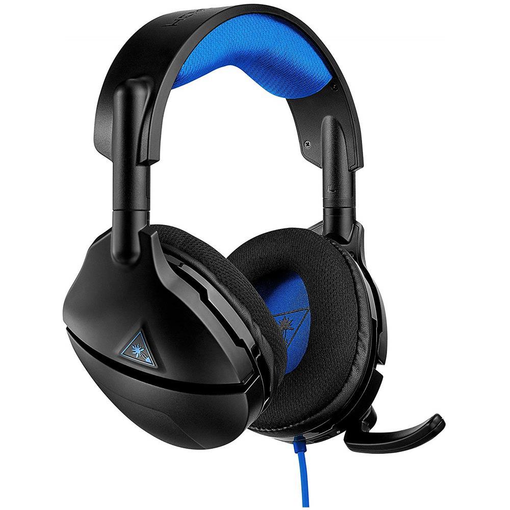 TURTLE BEACH Cuffie Gaming Stealth 300 con Microfono Colore Nero Blu per PlayStation 4