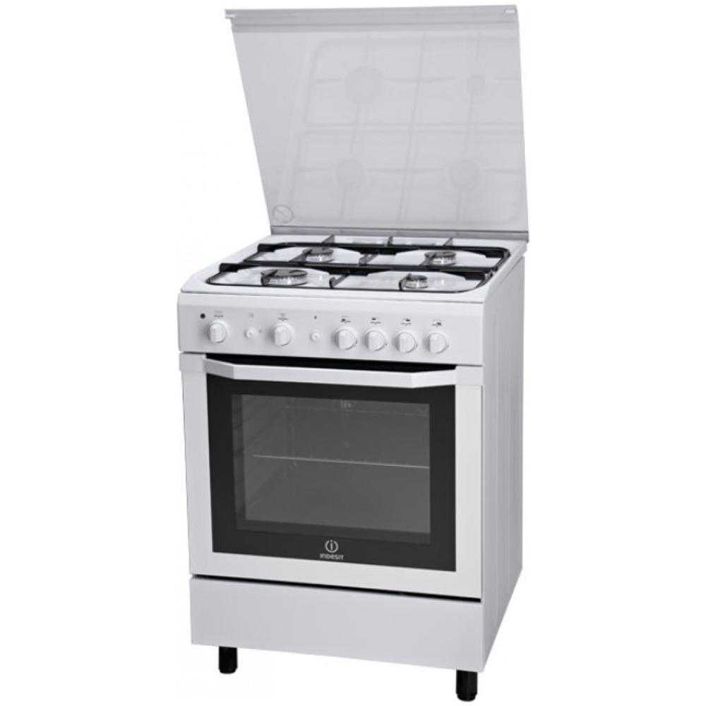 Cucina a Gas 4 Fuochi Indesit con Forno a Gas Grill 60x60 cm Bianco I6GG1F //I W