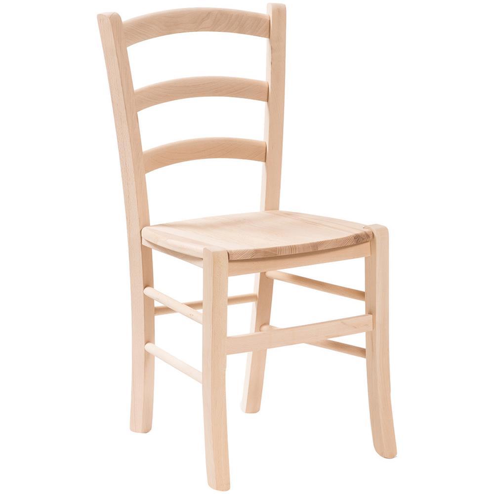 Sedute In Legno Per Sedie.Biscottini Sedia In Legno Massello Di Faggio Grezzo Con Seduta In