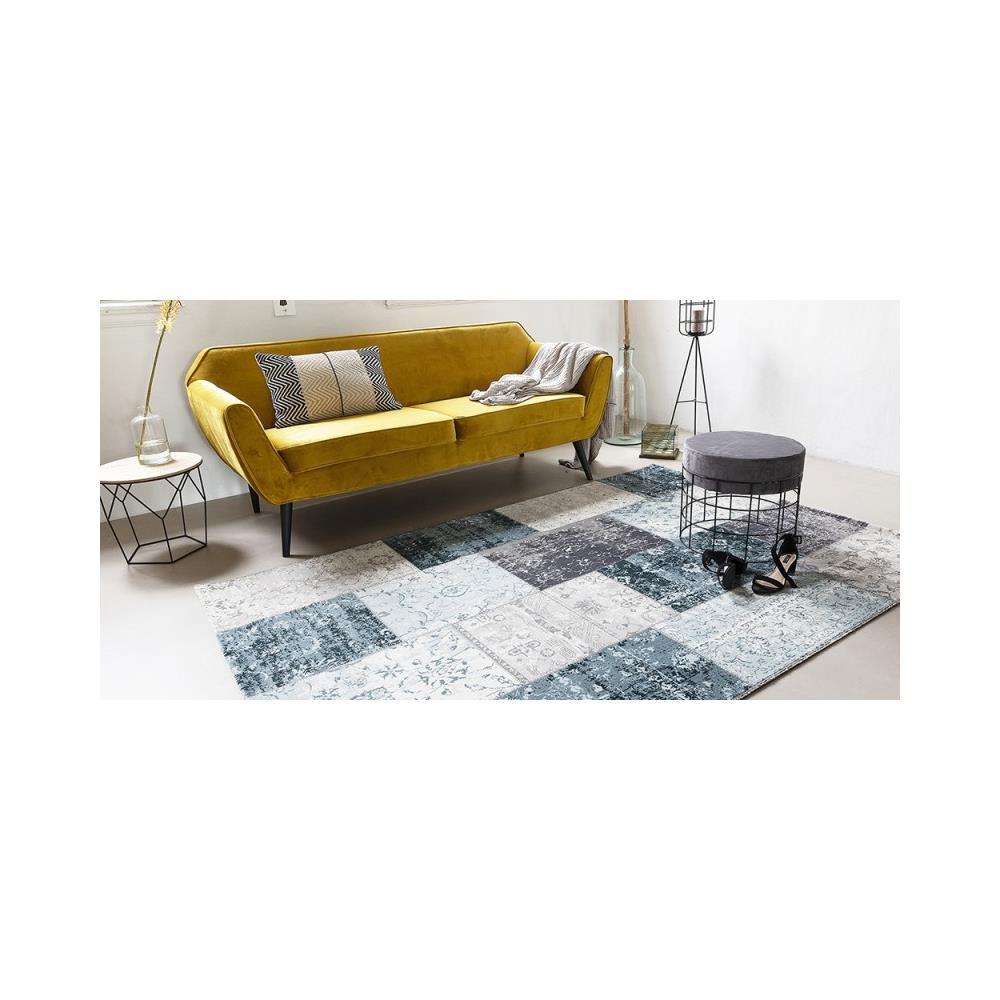 Riscaldamento A Pavimento E Tappeti tappeto per salotto e camera da letto grigio scuro - blu
