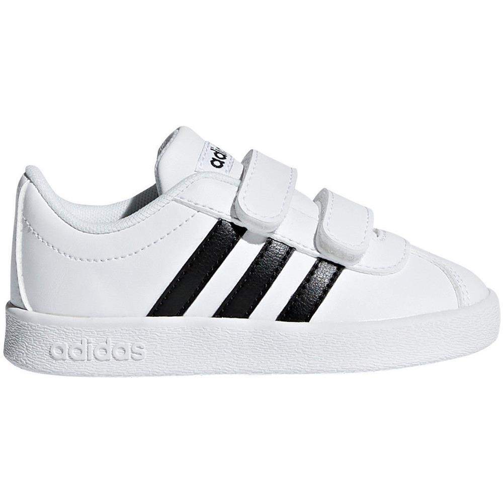 adidas vl court 2.0 bambino nere