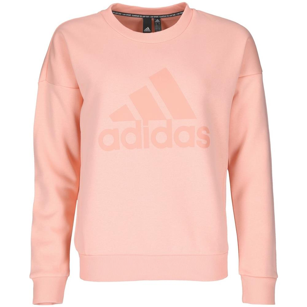 adidas Eb3814 Performance Must Haves Badge Of Sport Crew Felpa Donna  Pullover Rosa Rosa S