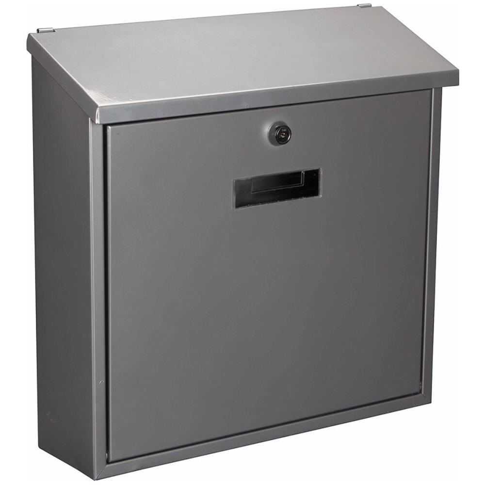 Posta colore a scelta 2 Chiavi incl acciaio Cassetta postale argento a parete targhetta per il nome| chiudere a chiave Casetta delle lettere