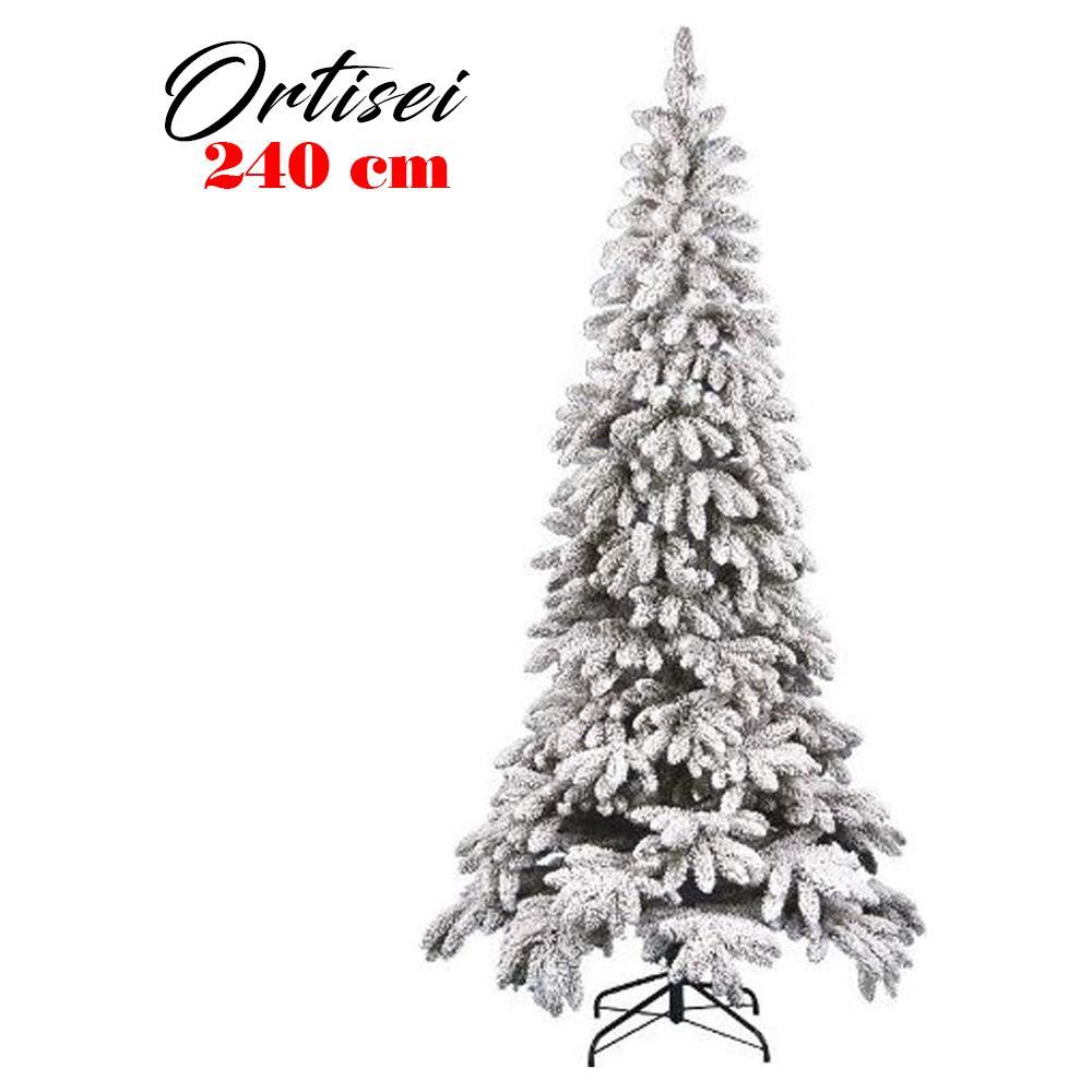 Albero Natale Immagini.Bakaji Albero Di Natale Innevato Slim 240cm Ortisei 1313 Rami Super Folto Effetto Neve Eprice