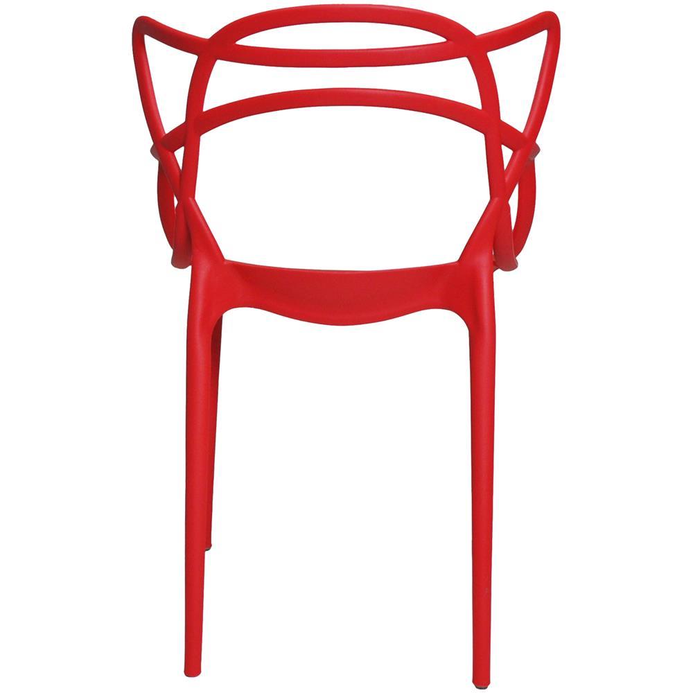 Samira - Sedia In Plastica Impilabile Noah Rosso (confezione Da 4 ...