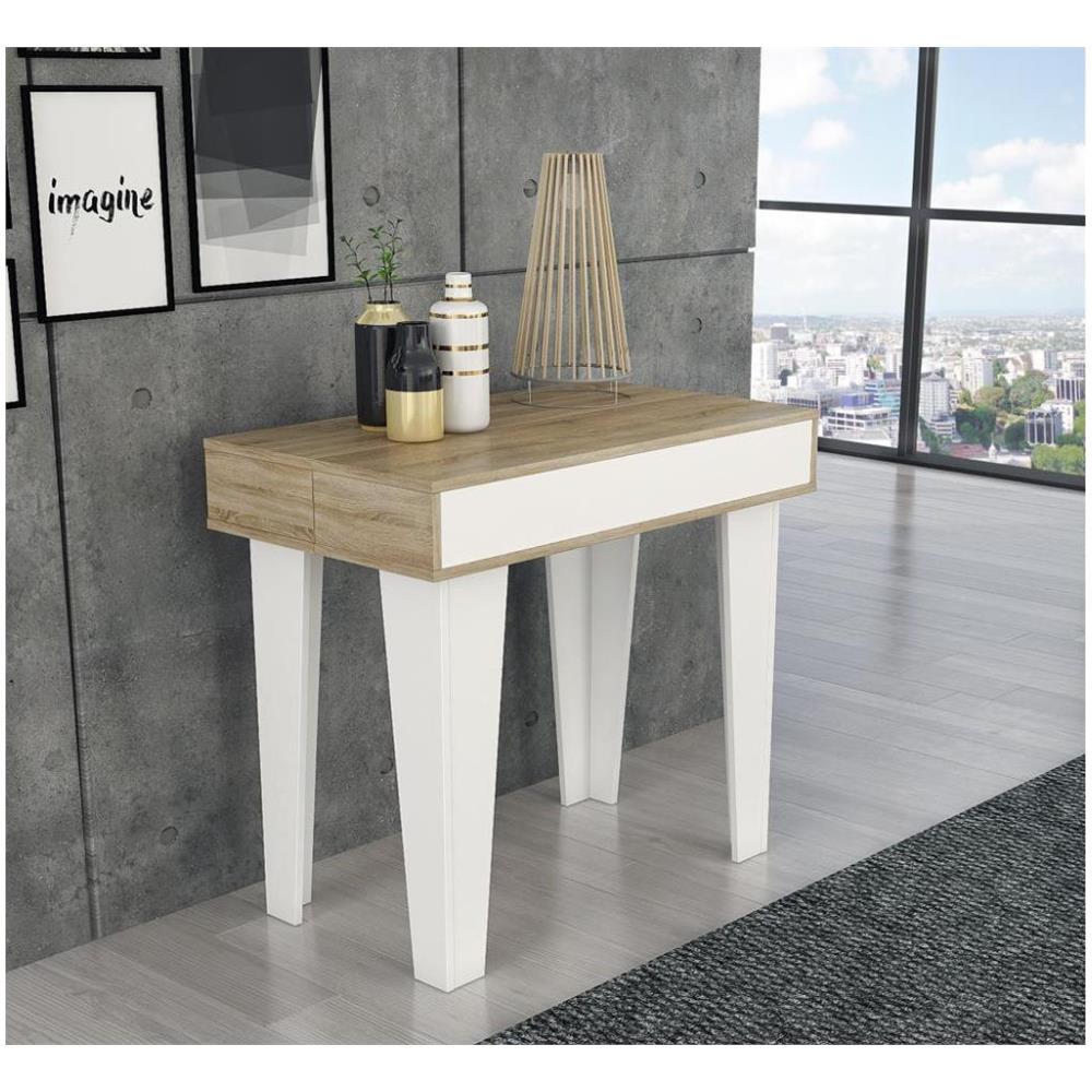 Tavolo Allungabile 10 Persone.Comfort Home Innovation Tavolo Consolle Nordic Kl Da Pranzo E