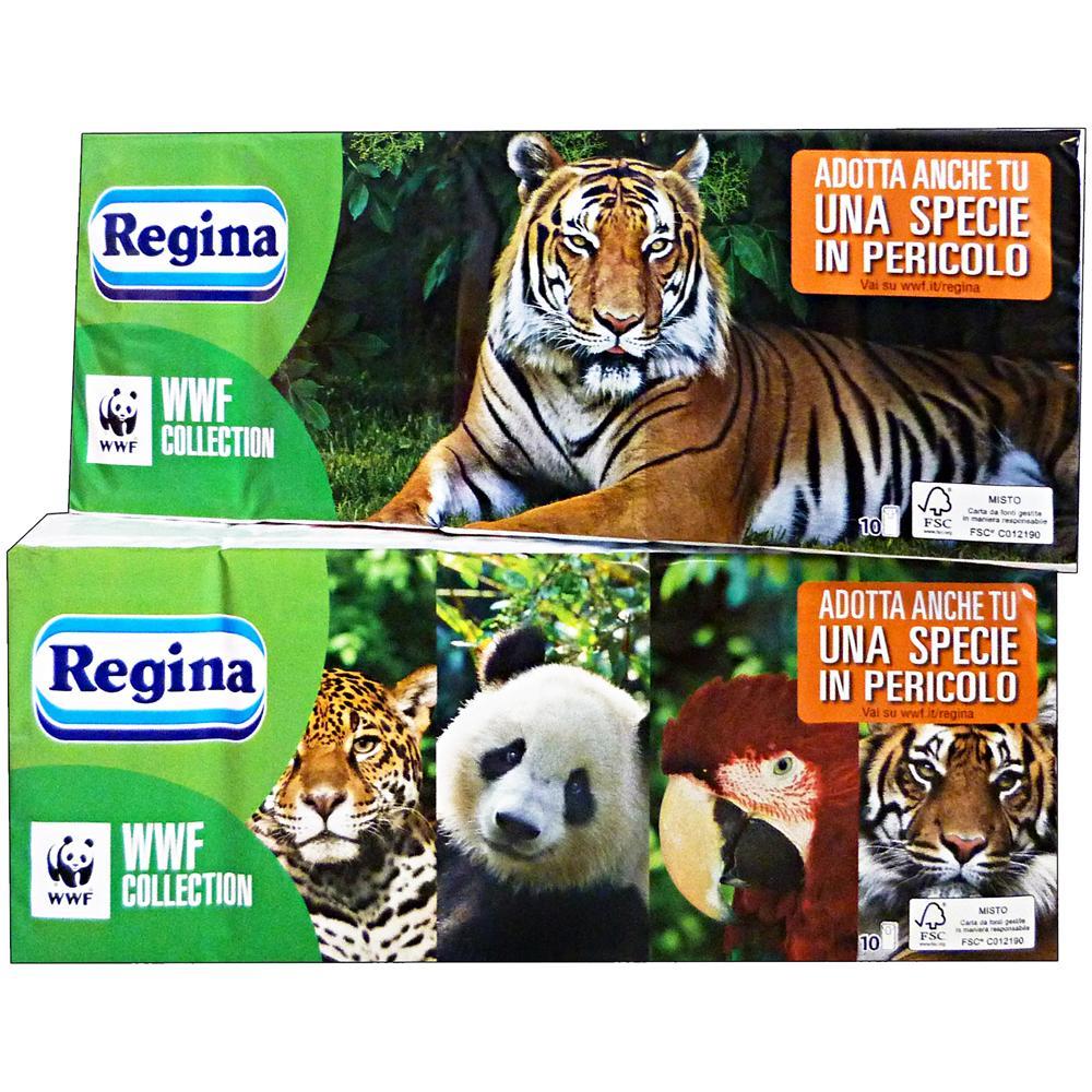 selezione premium grande vendita una grande varietà di modelli Regina Fazzoletti Wwf Collection X 10 Pezzi - Fazzoletti Di Carta