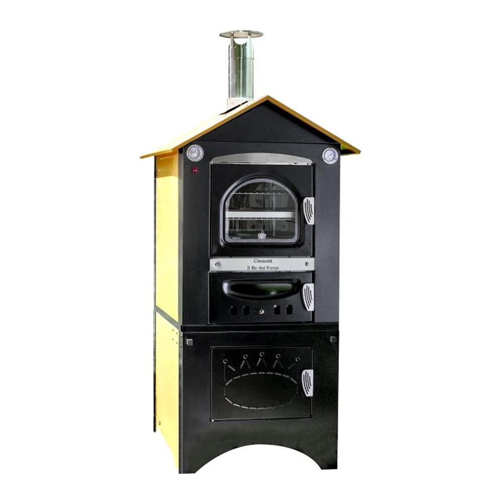 Clementi Smart - Forno A Legna Da Esterno Con Tetto Per Cucina Barbecue  Giardino