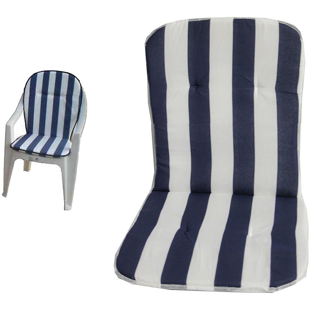Cuscini Con Schienale.Takestop Set 2 Cuscini Cuscino Strisce Blu Bianco Sedia Sdraio