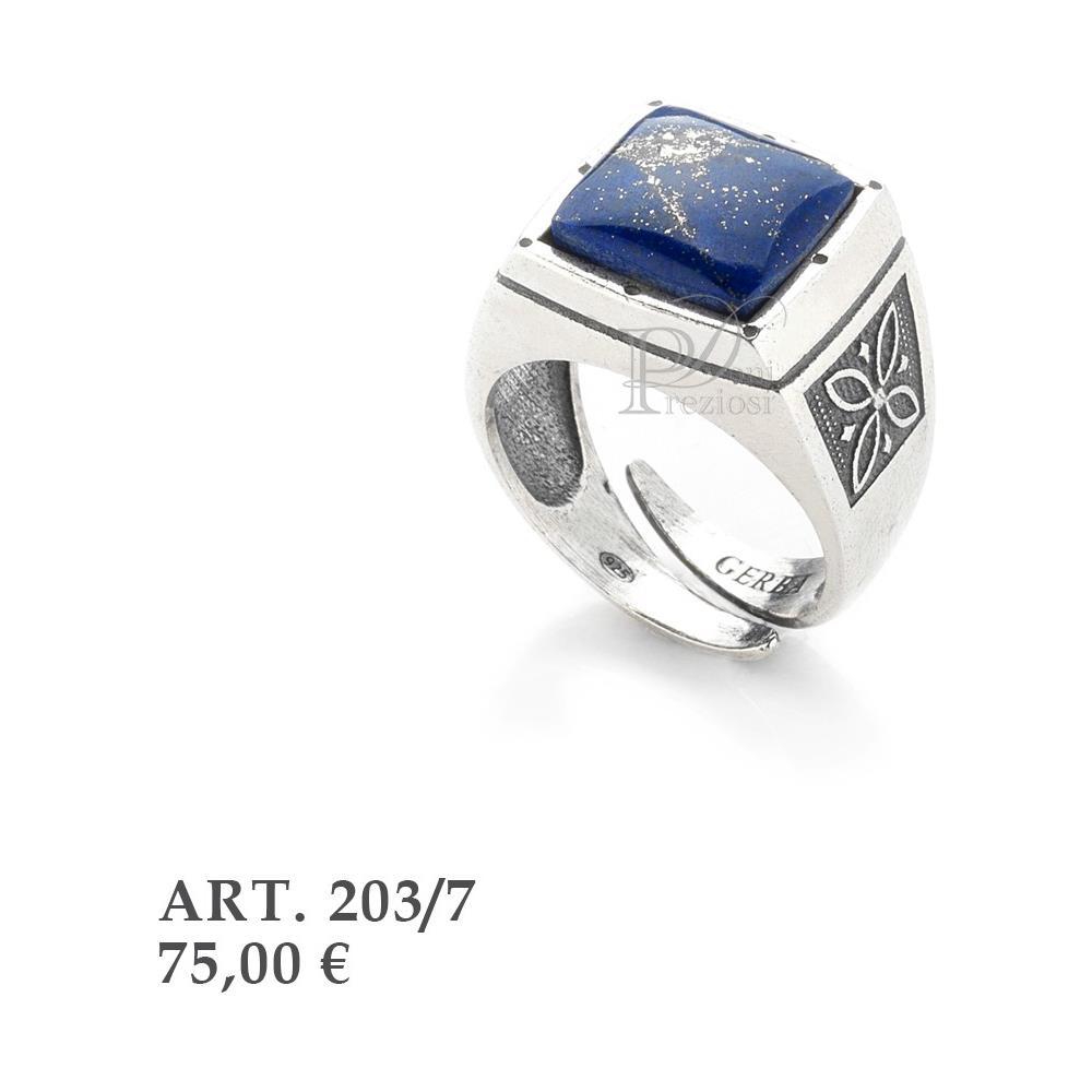 84d08d0b5e Gerba - Anello Unisex In Argento Con Pietra Blu - ePRICE