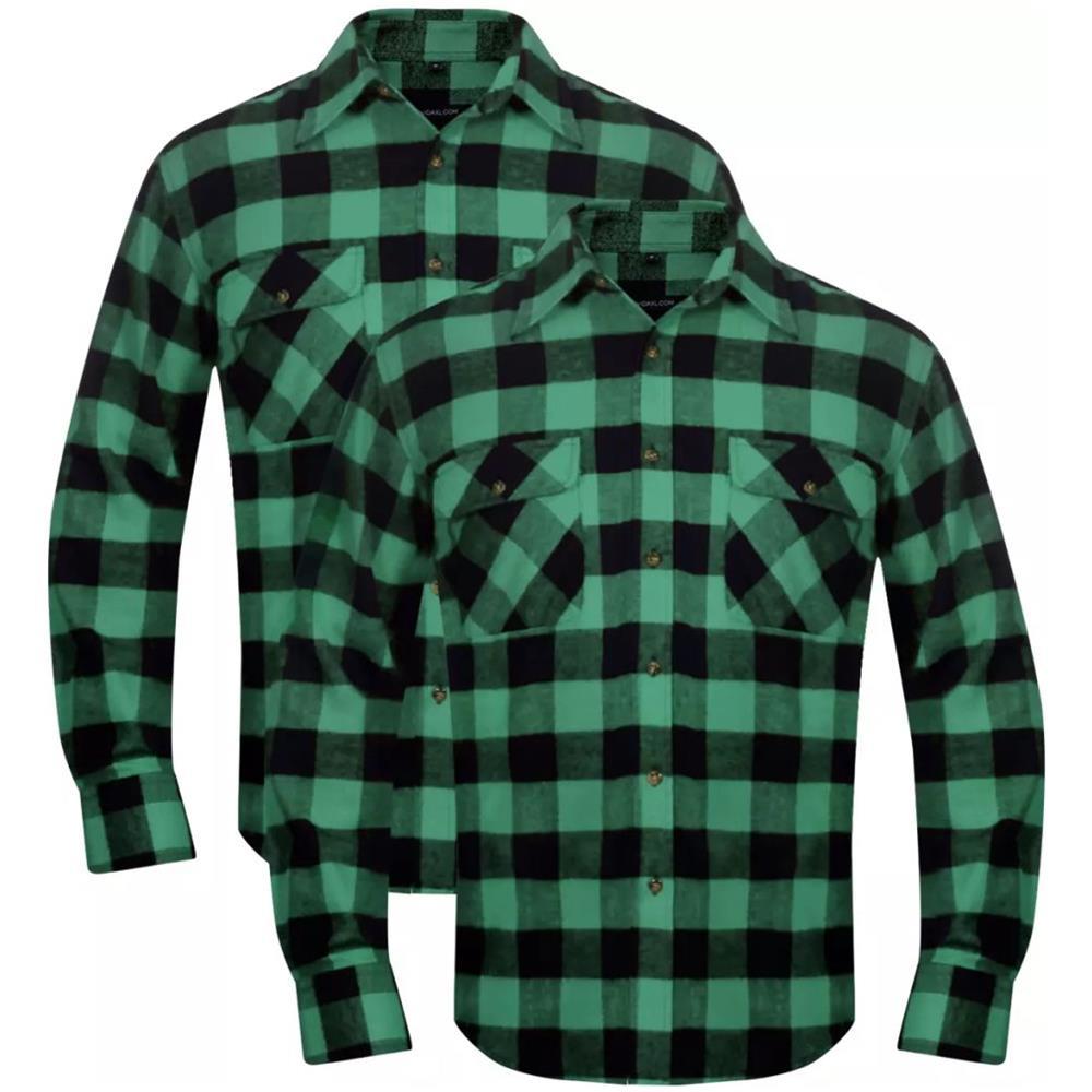 9169c56d56cb TOPSTAR - Set 2 Pz Camicia Di Flanella A Quadri Da Uomo Verde E Nero Taglia  Xxl - ePRICE
