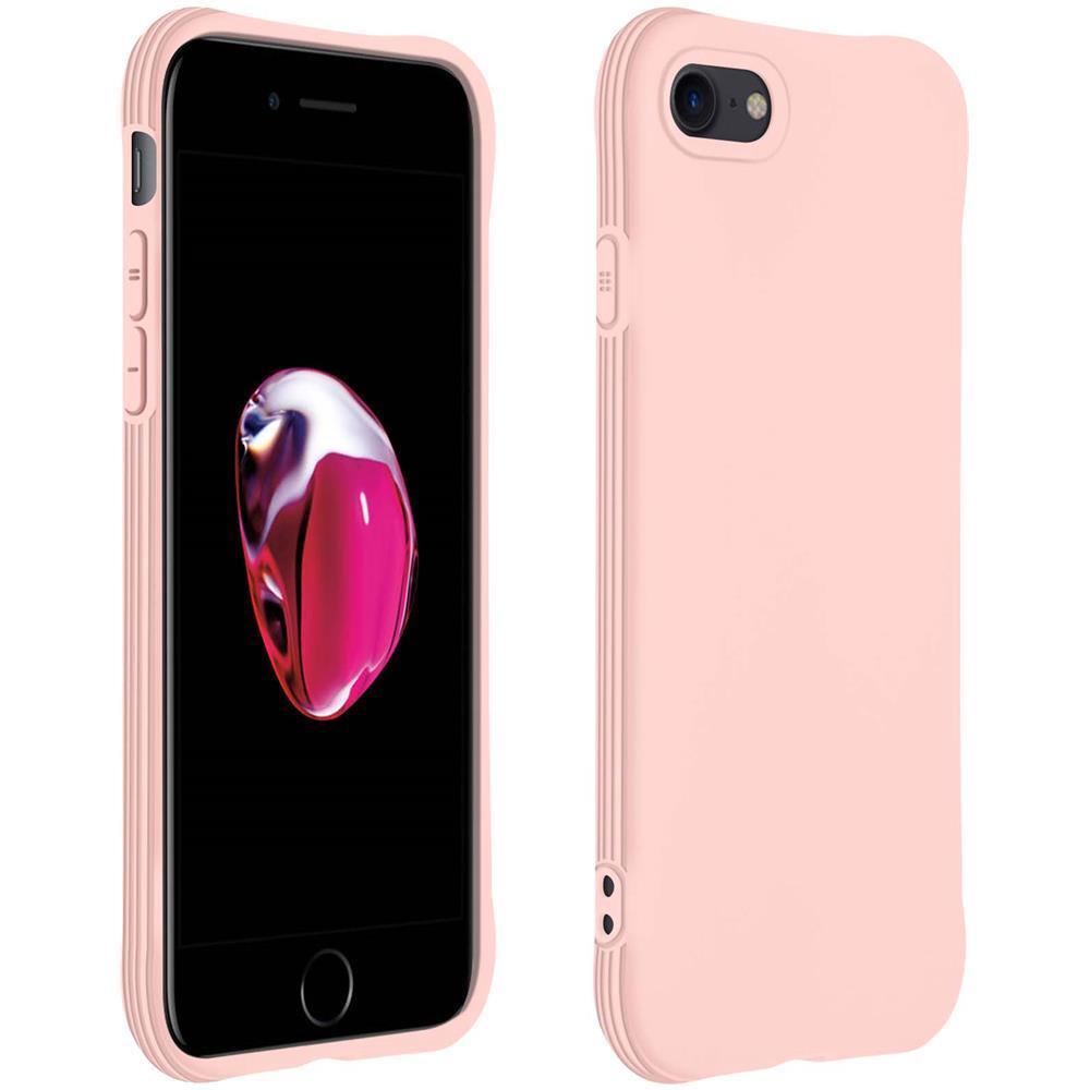 Avizar Cover Apple Iphone 7 / 8 / Se 2020 Silicone Bumper Resistente Rosa
