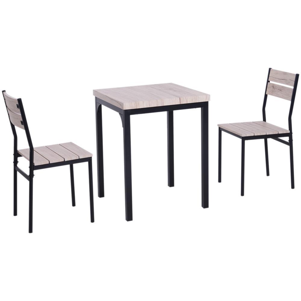 HOMCOM - Set Tavolo Da Pranzo Con 2 Sedie Per Casa E Cucina In ...