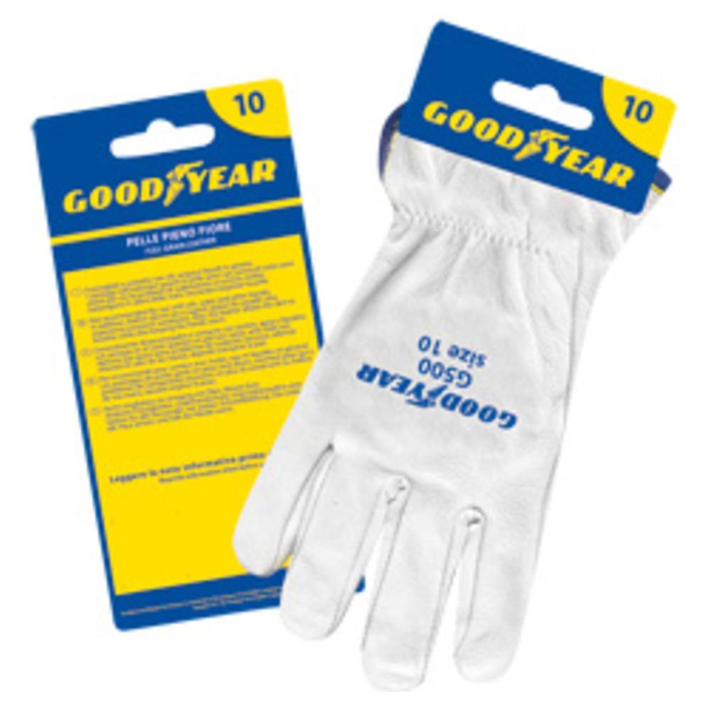 prezzo di fabbrica vendite speciali stile squisito Goodyear - Guanti In Pelle Fiore Colore Bianco Orlato Taglia 10 ...