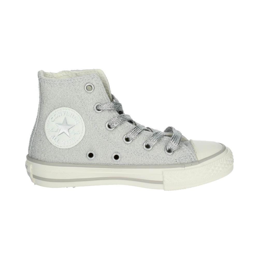 sneakers bambina argento converse