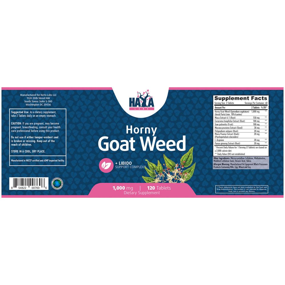 Horny Goat Weed Estratto 1000mg 120 Pillole Integratori