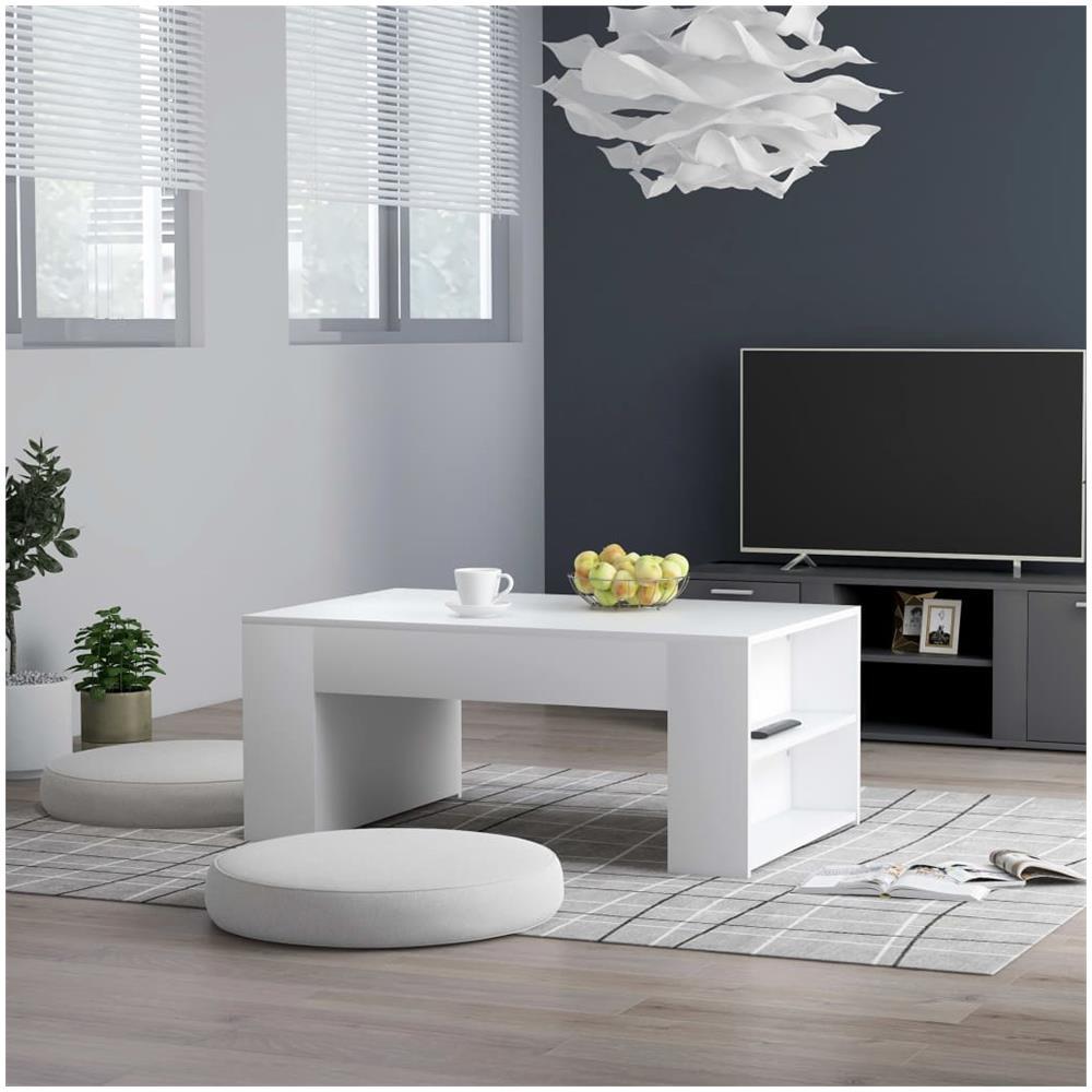 vidaXL Tavolino da caff/è in Truciolato 100x59x42 cm Bianco Tavolinetto Salotto