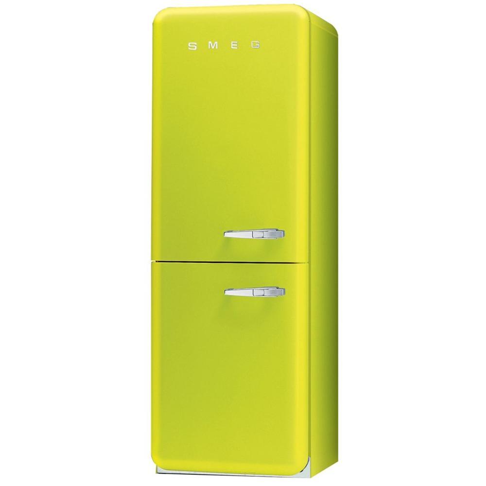 SMEG Frigorifero Combinato FAB32LVEN1 Anni \'50 Classe A++ Capacità Lorda /  Netta 328/304 Colore Verde Lime