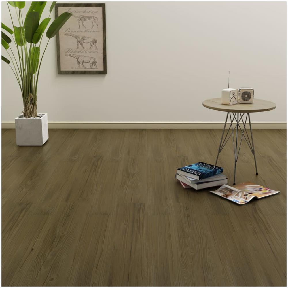 Pavimenti In Pvc Ad Incastro vidaxl listoni per pavimenti a incastro 3,51 m² 4 mm in pvc marrone