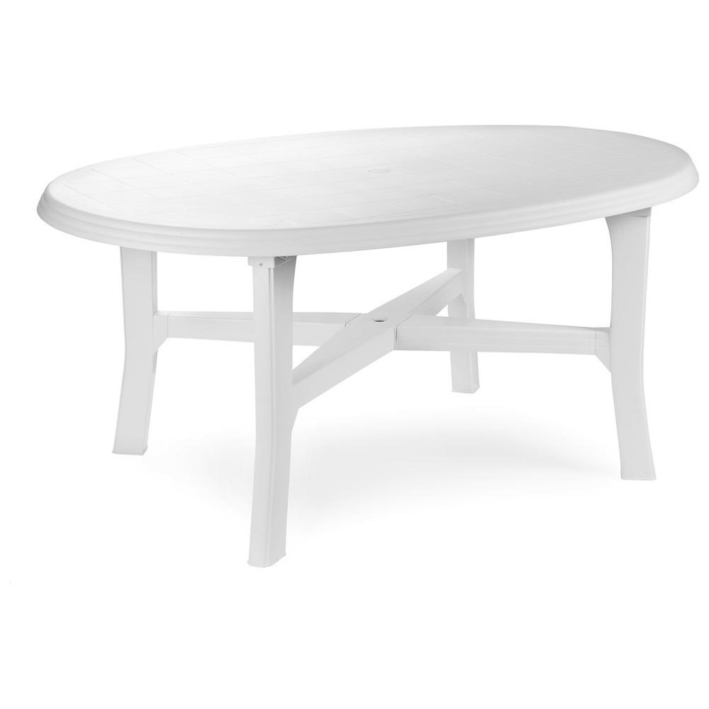 ipae-progarden - Tavolo ovale Bianco - Modello Danubio - ePRICE