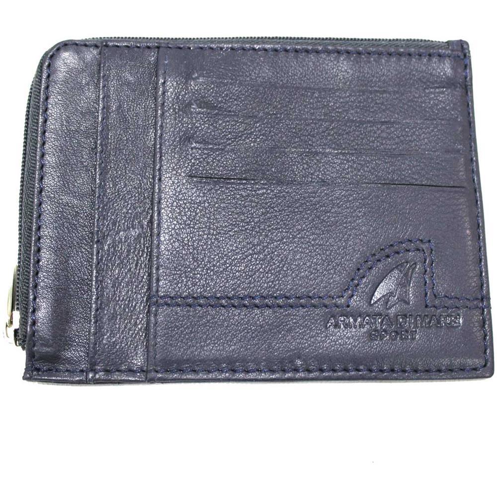 in vendita 8fcde 7666b ARMATA DI MARE Porta Carte Di Credito Monete Banconote Uomo Donna In Pelle  Con Zip Centrale 847