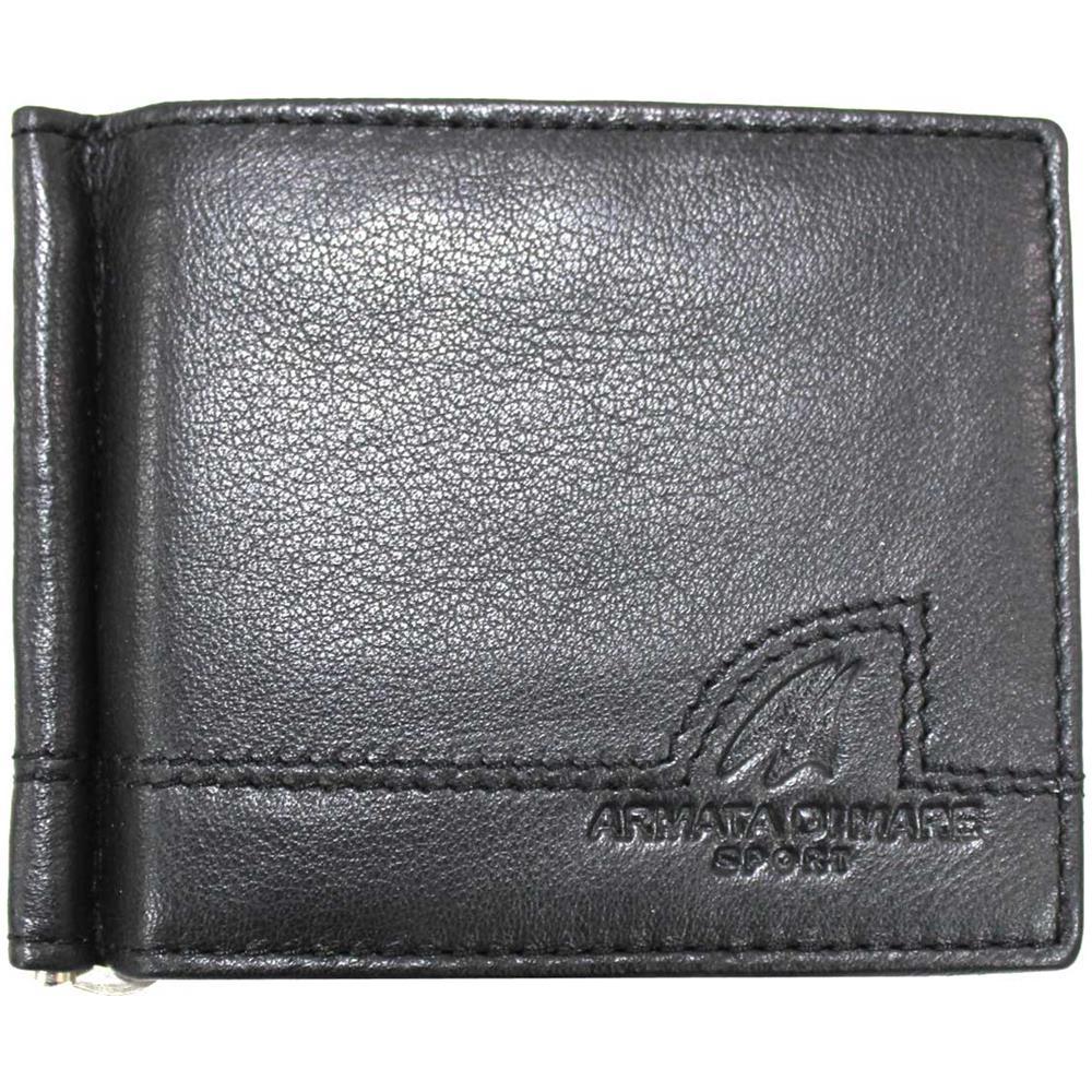 più economico 967e8 be54b ARMATA DI MARE Portafoglio Uomo In Pelle Con Ferretto Portamonete Porta  Carte Credito 11816 Blk