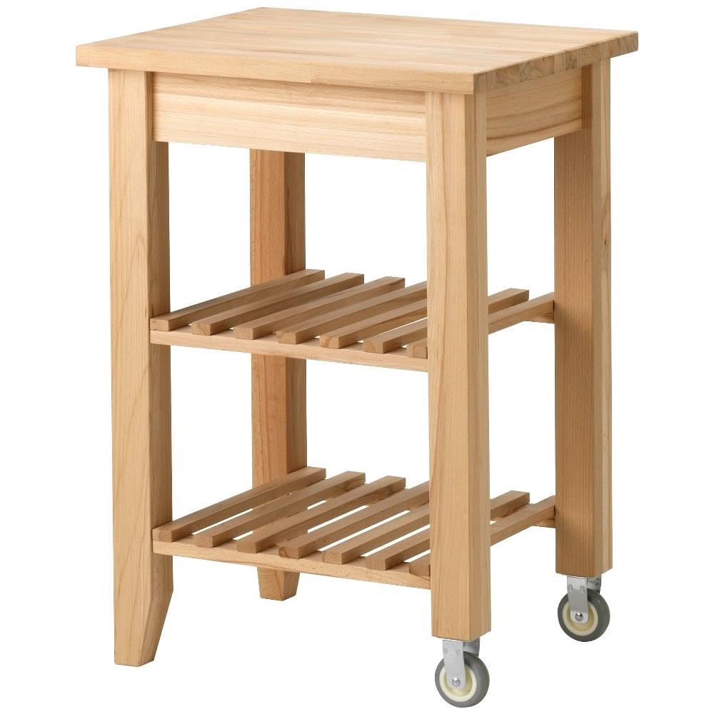 SF SAVINO FILIPPO Carrello Da Cucina Ikea Bekvam In Legno Massiccio Di  Faggio Con 2 Ruote E 2 Ripiani 58 X 50 Cm
