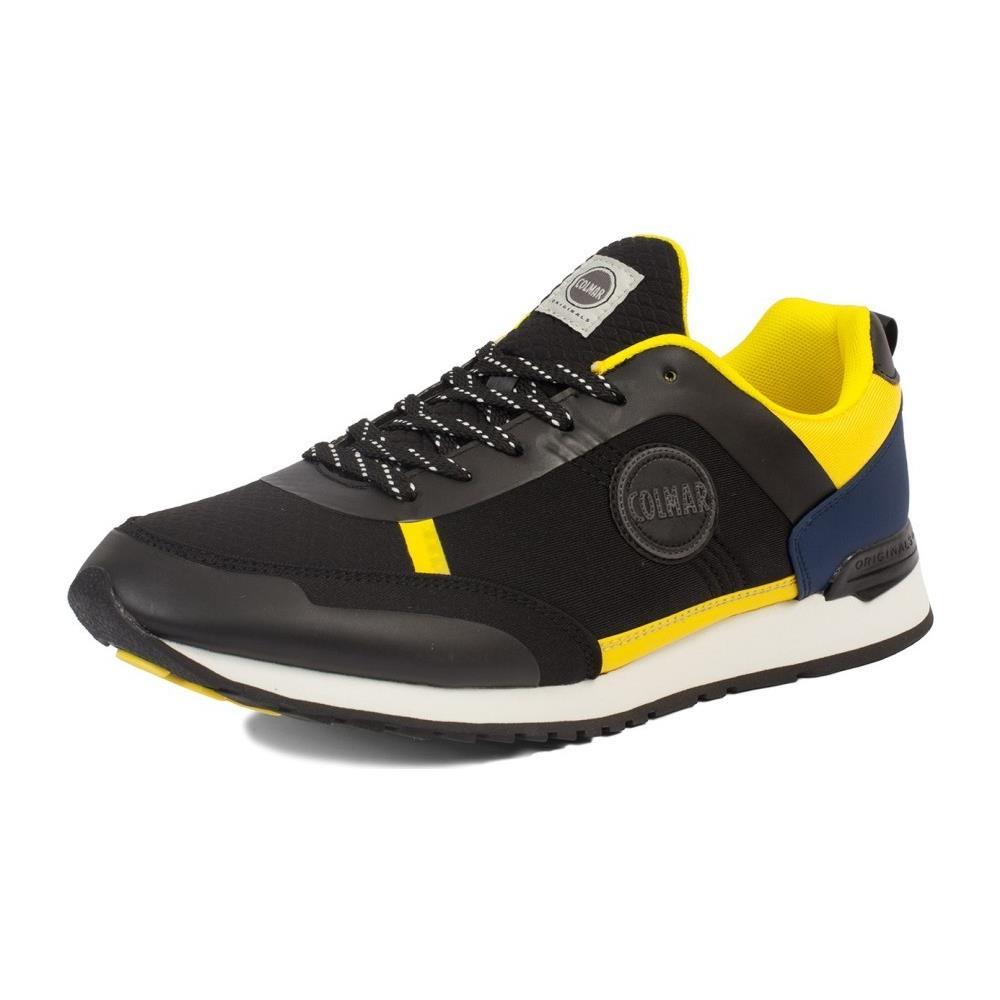 new release 2018 sneakers factory authentic Colmar Originals Scarpe Uomo Travis Glyph 44 Nero Giallo