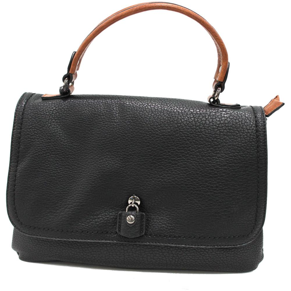 7d37a11daf Lookat - Borsa Donna In Similpelle Cartella Piccola A Mano Linea Lock Y224  Nero - ePRICE