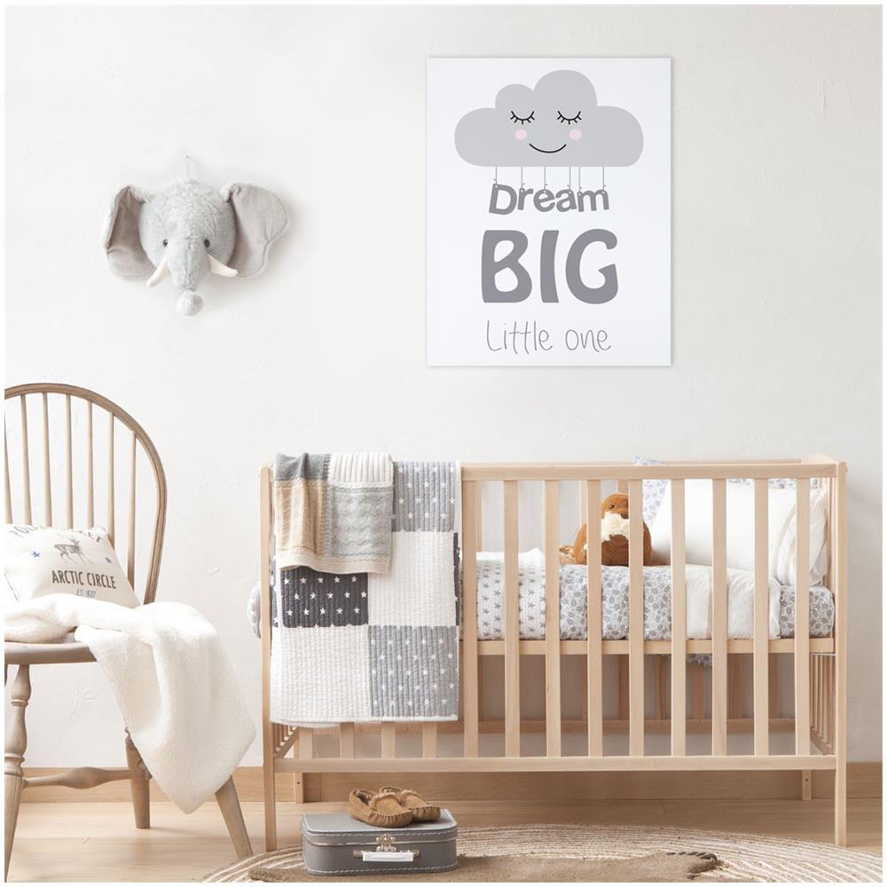 Declea Quadro Su Tela Cameretta Per Bebé Neonati Nuvola Sogno