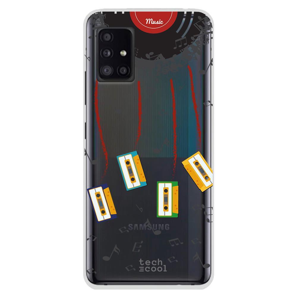 Techcool Cover, Custodia Per Huawei P40 Lite L Silicone Musica Retrò Discoteca