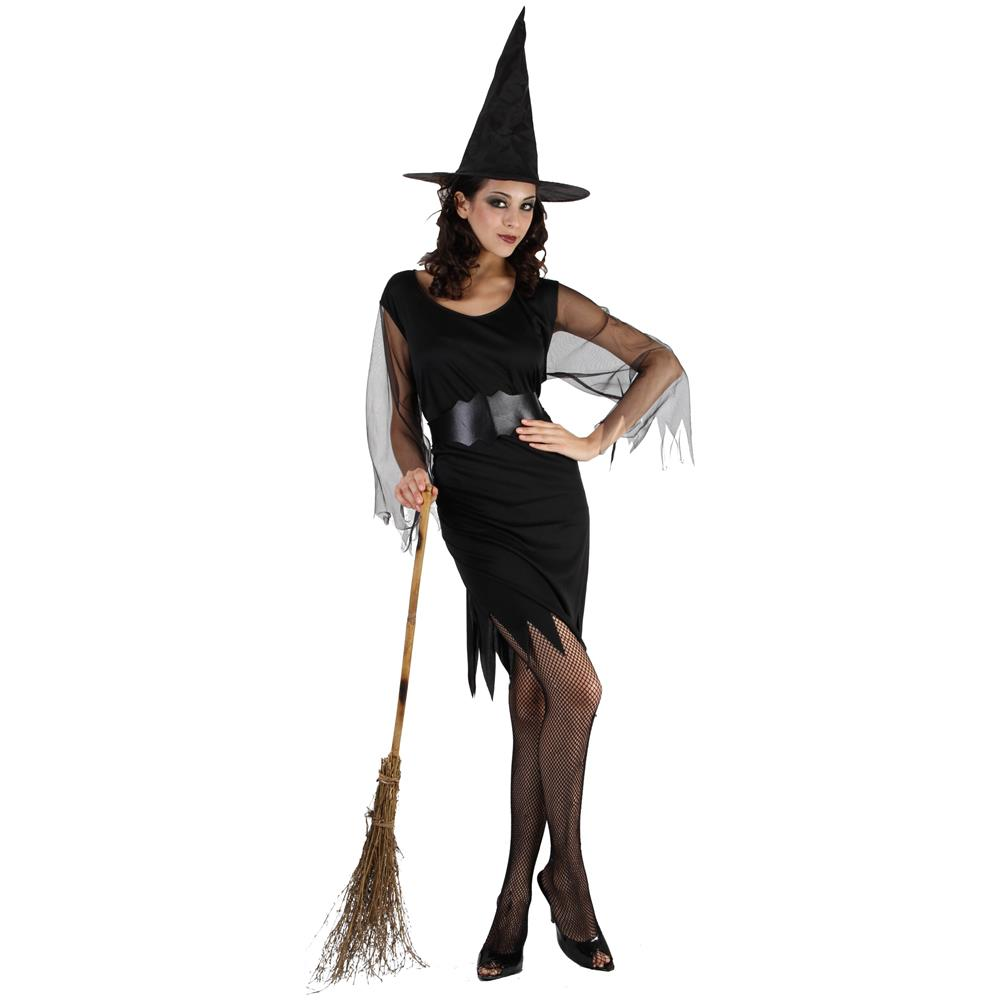 JADEO - Costume Strega Corto Per Donna Halloween Taglia Unica - ePRICE 2938012bb568