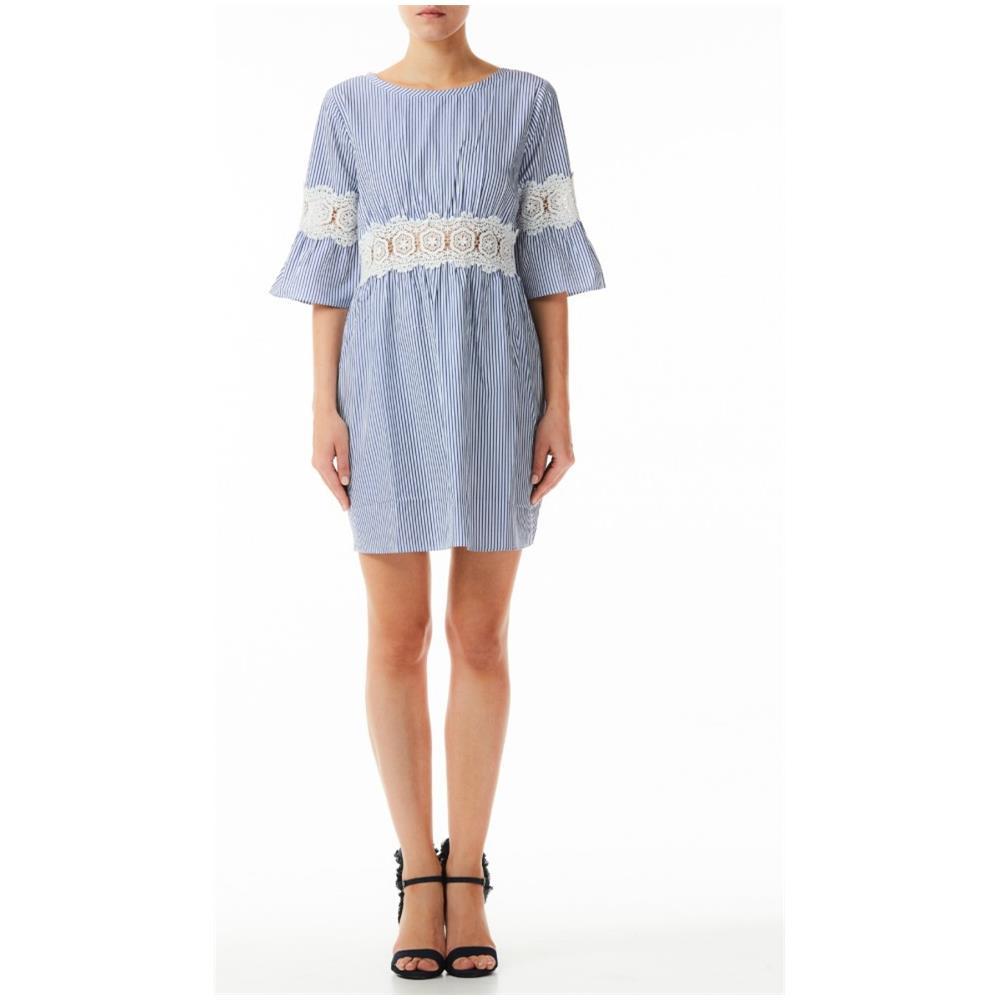 online retailer 33ea2 e7999 Liu.Jo Abito Donna Rigato In Pizzo - Taglia: L - Colore: Blu Bianco