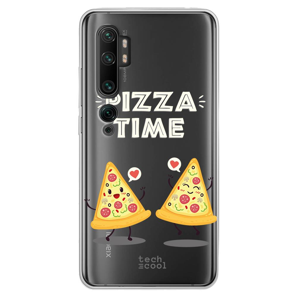 Techcool Cover, Custodia Per Huawei P40 Lite L Silicone Sfondo Trasparente Illustrazione Tempo La Pizza