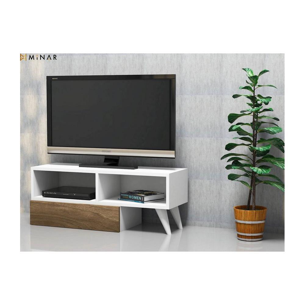 Mensole Componibili Per Casa.Homemania Mobile Tv Active Bianco Noce Moderno Casa Arredo