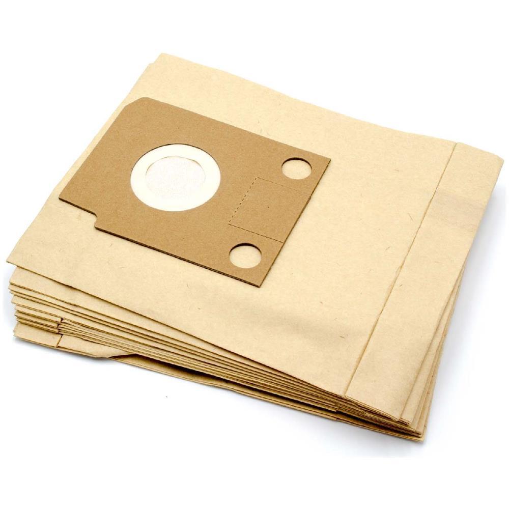 vhbw 10 X Sacchetto Carta Per Aspirapolvere Aspiraliquidi Hoover System 100, 1000, 1100, 200, 300 Audio, 400, 500 Audio
