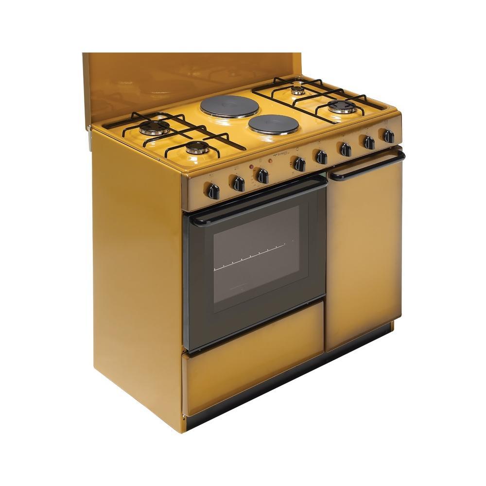 Cucina A Gas Con Portabombola Usata.Bompani Cucina Elettrica Bi941eb L 4 Fuochi A Gas 2 Piastre Elettriche Forno Elettrico Classe A Dimensioni 90 X 60 Cm Colore Coppertone Serie
