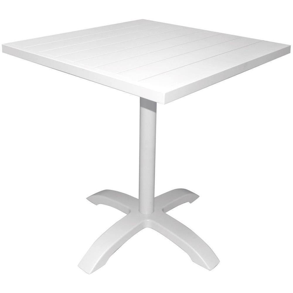 Tavolo Bar Bianco.Gruppo Maruccia Tavolino Da Bar In Alluminio Color Bianco