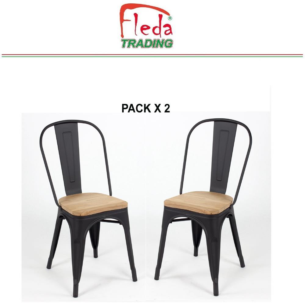 Sedie Per Ristorante Da Esterno.Fleda Trading Sedia In Metallo Per Esterno O Interno Stile Tolix