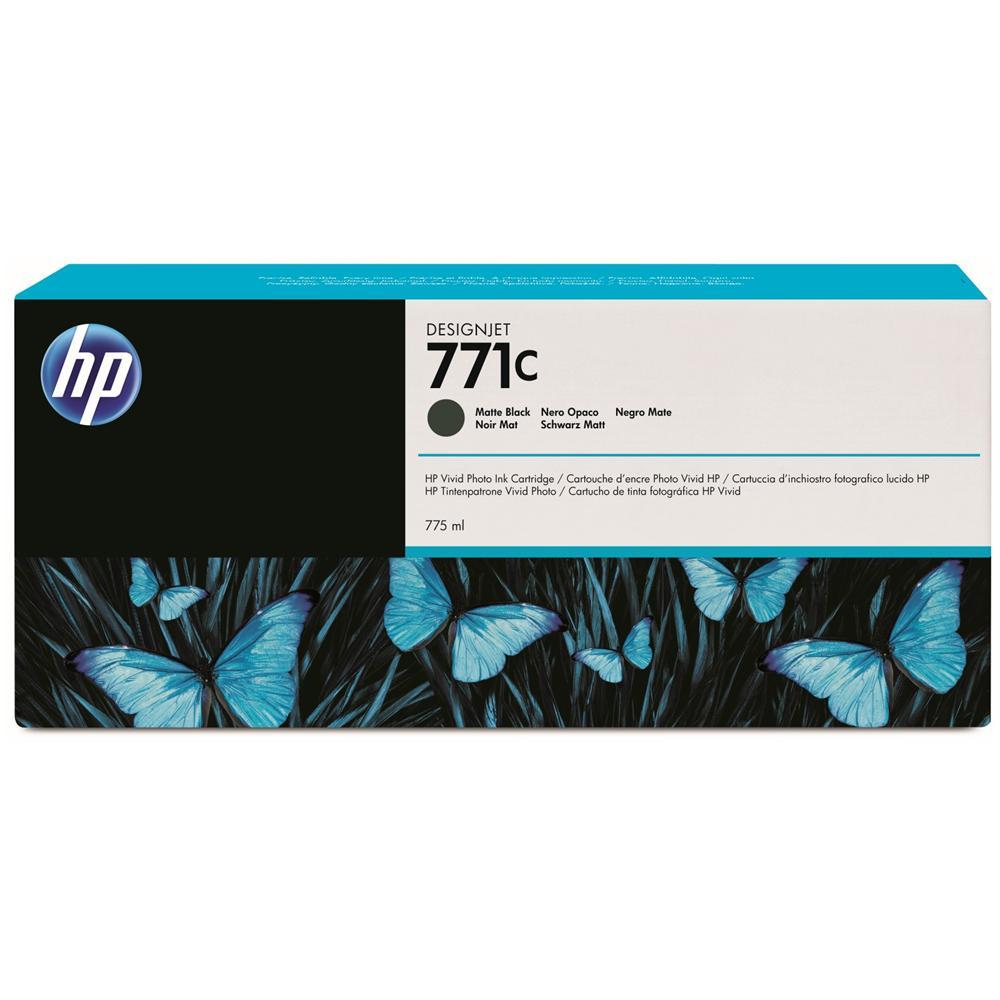 102142 4807789 B6Y31a Cartuccia Ink Originale 771C Nera Opaco per HP DesignJet Z