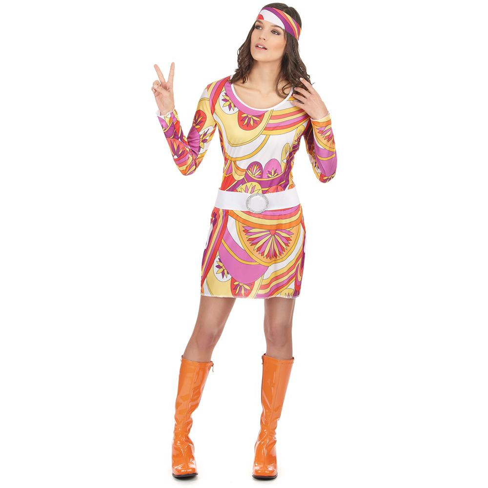 6c7240eb06329 JADEO - Costume Carnevale Donna Hippy Taglia Unica - ePRICE
