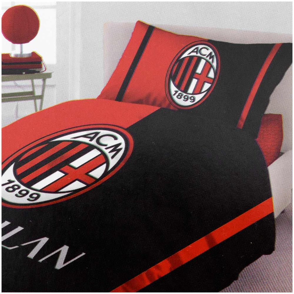 Copripiumino Milan Singolo.A C Milan Parure Copripiumino A C Milan Ufficiale Singolo Una