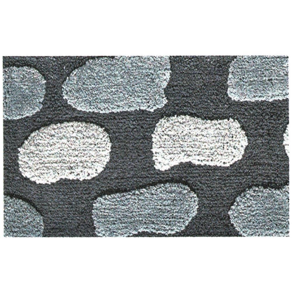 BIANCHERIAWEB Tappeto da Bagno Antiscivolo Disegno Line Colore Blu 50x80 Blu